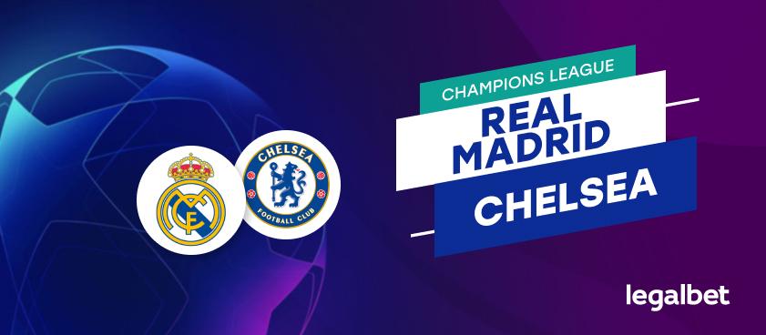 Apuestas y cuotas Real Madrid - Chelsea, Champions League 2020/21