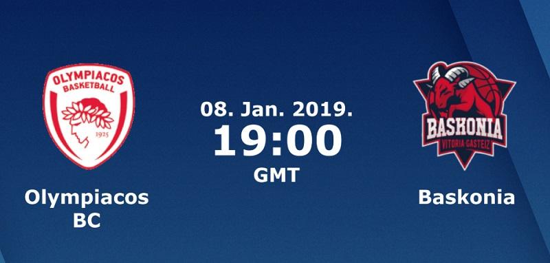 Баскетбол. Евролига. Олимпиакос - Баскония (08.01.2019) / Анонс, прогноз