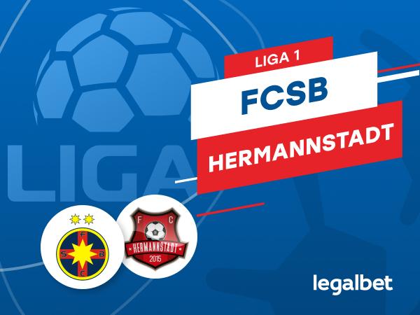 Karbacher: FCSB - FC Hermannstadt: cote la pariuri şi statistici.