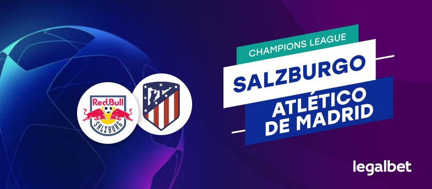 Apuestas y cuotas Salzburgo - Atlético de Madrid, Champions League 2020/21
