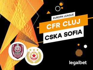 Karbacher: CFR Cluj - ŢSKA Sofia: cote la pariuri şi statistici.
