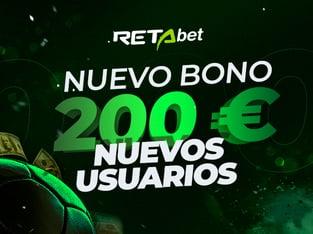 Legalbet.es: RETAbet lanza un nuevo bono de bienvenida de hasta 200€.