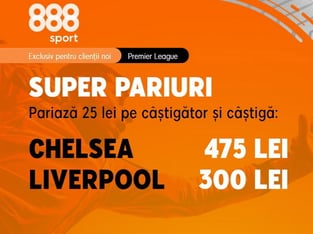 legalbet.ro: Cote generoase pentru meciurile Astra-CFR si Chelsea-Liverpool.