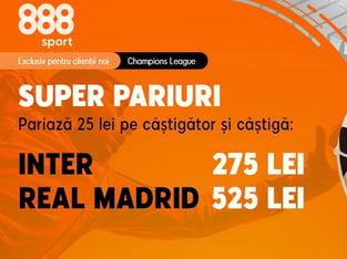 legalbet.ro: Pariază pe Inter sau Real şi prinde cotele babane din promoţia 888 Sport!.