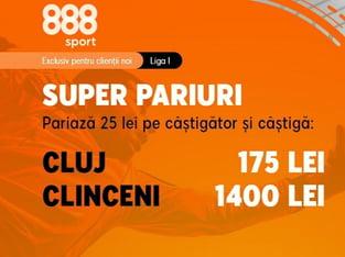 legalbet.ro: CFR are doar victorii cu Clinceni iar tu ai o super promoţie la 888.