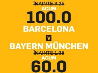legalbet.ro: Champions League: Barça şi Bayern se duelează pe cote uriaşe.