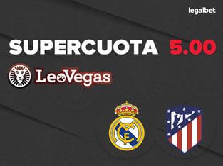 Supercuota 5.00 LeoVegas para el derbi: Real Madrid - Atlético de Madrid.