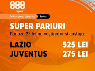 legalbet.ro: Nu rata cotele generoase pentru marele meci Lazio - Juventus!.