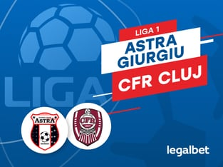 Karbacher: Astra Giurgiu vs CFR Cluj: cote la pariuri şi statistici.
