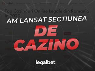 legalbet.ro: Legalbet lanseaza mult asteptata sectiune de cazino.