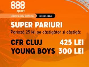 legalbet.ro: Pariază pe cote de excepţie la meciul CFR Cluj - Young Boys Berna din Europa League.