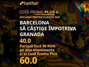 legalbet.ro: Betfair are o nouă promoţie uluitoare pentru un meci din La Liga.