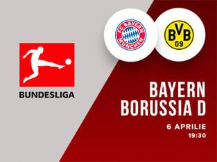 legalbet.ro: Bayern München - Borussia Dortmund: prezentare cote la pariuri si statistici.