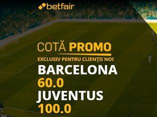legalbet.ro: Pariază acum pe cote uluitoare la meciul FC Barcelona - Juventus Torino!.