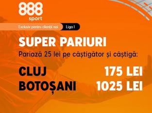 legalbet.ro: Profită acum de promoţia 888 Sport pentru meciul CFR Cluj - FC Botoşani.