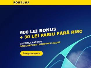 legalbet.ro: Vineri şi sâmbătă ai extra bonus la Fortuna.