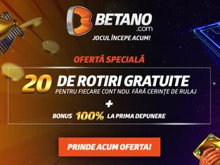 legalbet.ro: Betano are bonus Casino fara depunere in perioada 12-26.11.2020.