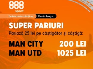 legalbet.ro: Cote uriaşe şi orgolii mari în derby-ul Manchester City - Manchester United.
