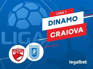 Karbacher: Dinamo Bucureşti - Universitatea Craiova: cote la pariuri şi statistici.